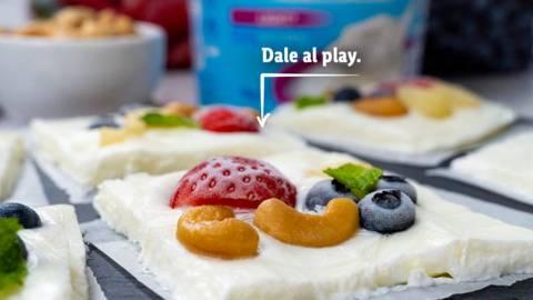 Barritas heladas de yogur y fruta