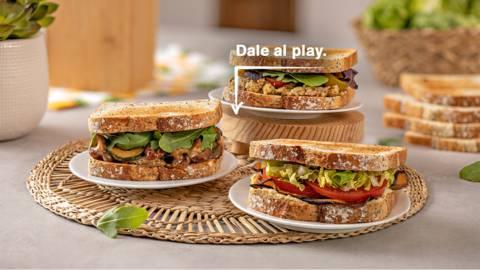 3 Sándwiches veganos