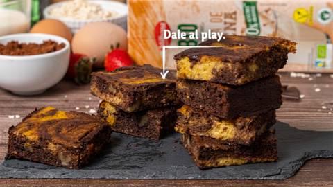 Brownie Bio de chocolate y calabaza
