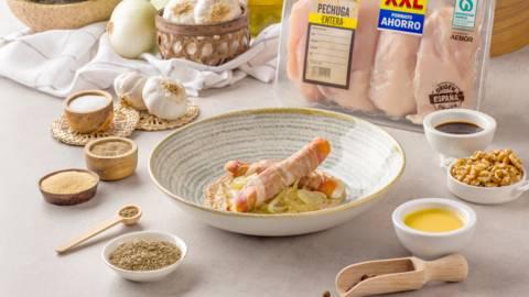 Pechugas de pollo con salsa de nueces