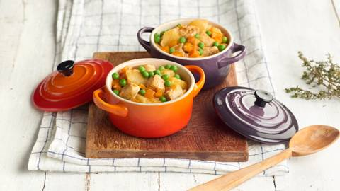 Guiso de pollo con zanahoria y patata