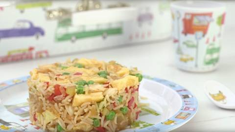 Fritada de arroz con verduras