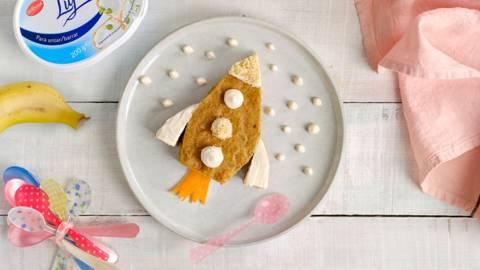 Pastel de plátano y zanahoria