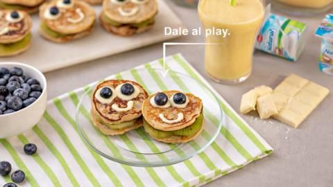 Desayuno con pancakes