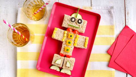 Sándwich vegetal infantil