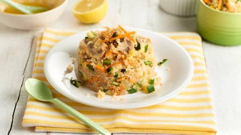 Quinoa fría con verduras
