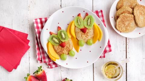 Tortitas de avena con frutas