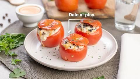 Tomates rellenos de bacalao