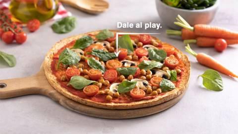 Pizza vegana de verduras