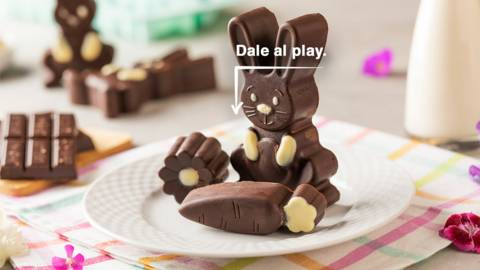 Dulces de chocolate y pistacho