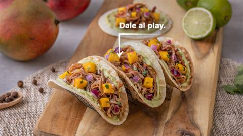 Tacos de pulled pork