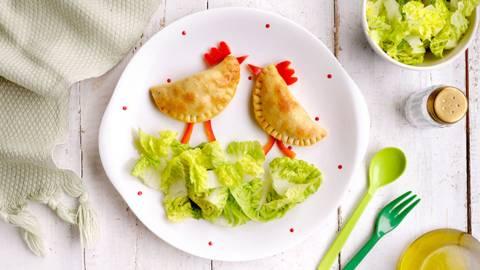 Empanadillas caseras de verduras y pollo