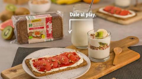 Desayuno con productos bio