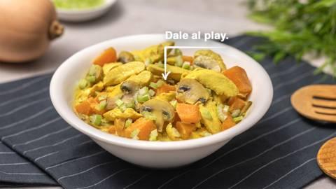 Curry de pollo y calabaza