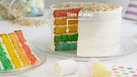 Tarta arcoíris