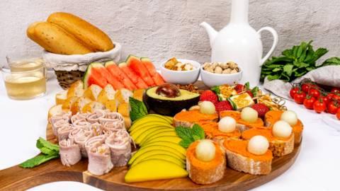 Tabla de embutidos de Tenerife con frutas