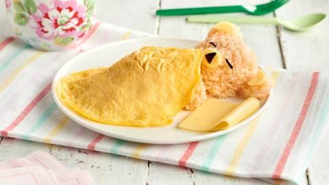 Osito dormilón de arroz con tortilla