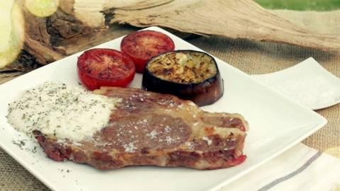 Entrecot  y salsa grana padano