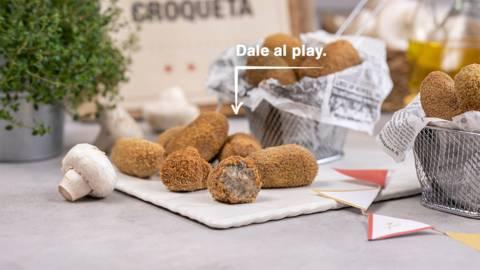 Croquetas de patata y champiñón