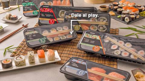 Emplatar sushi
