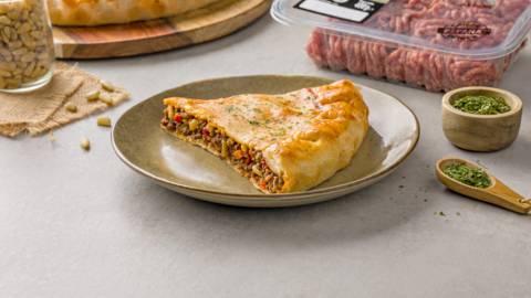 Pastel de carne picada con verduras