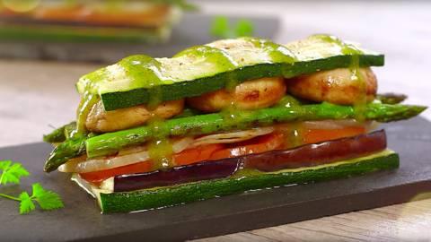 Lasaña de verduras a la plancha