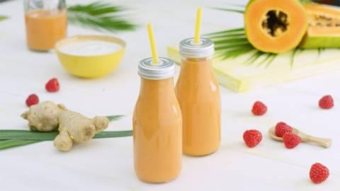 Smoothie de jengibre y papaya