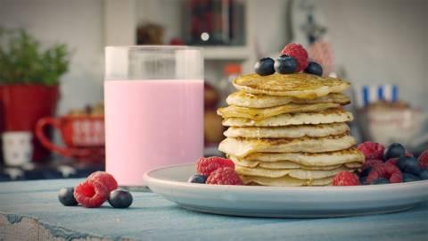 Delicioso pancake americano