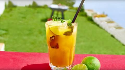 Mojito de mango sin alcohol
