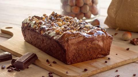 Brownie de chocolate con avellanas