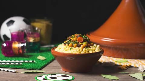 Bulgur marroquí con verduras