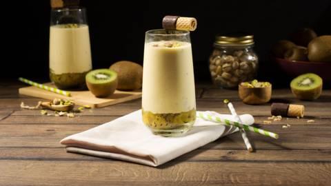 Sorbete de yogur y kiwi