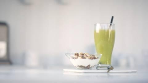 Batido depurativo y yogur