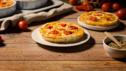 Tartaletas de tomates cherry confitados