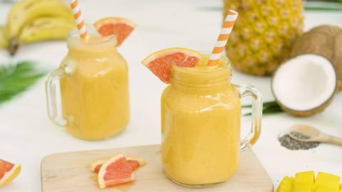 Smoothie de pomelo y mango