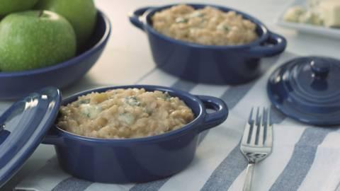 Risotto de manzana y gorgonzola