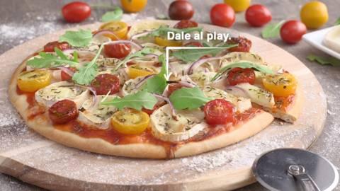 Pizza de queso de cabra