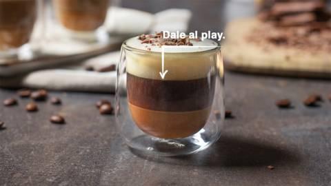 Café bombón con leche condensada casera