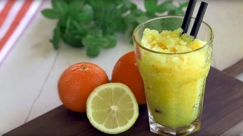 Sorbete de limón y mandarina