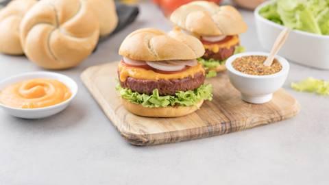 Burger con queso vegano