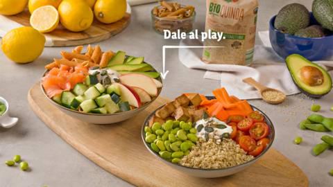 2 bowls con productos Bio