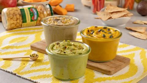 3 Hummus Veganos