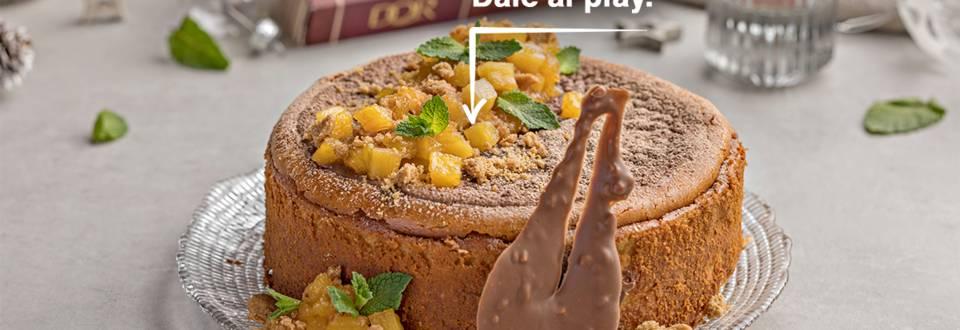 Cómo hacer cheesecake de turrón con piña y chocolate