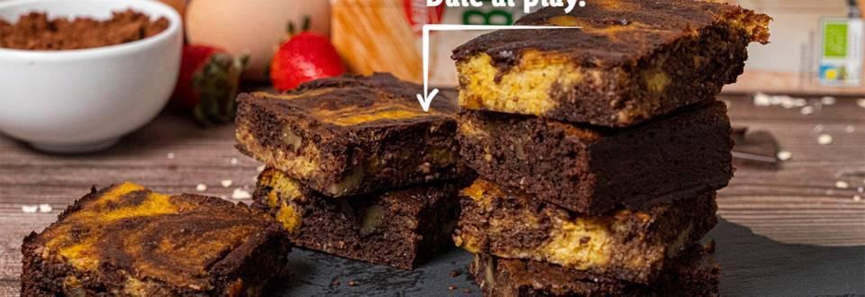 Cómo hacer brownie Bio de chocolate y calabaza