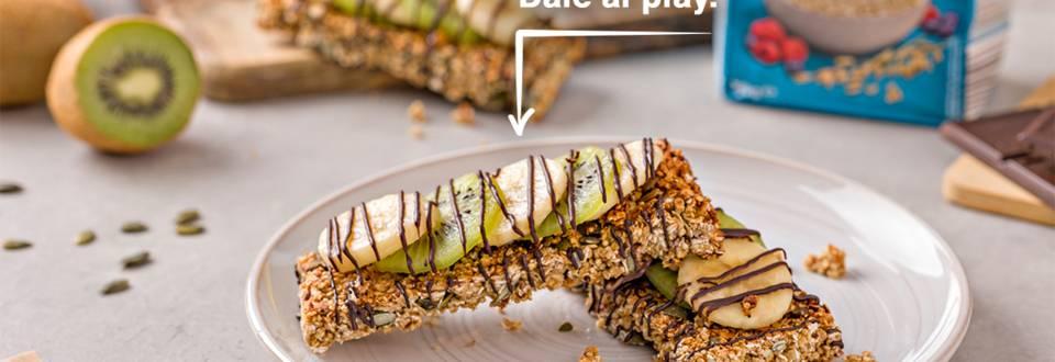 Cómo hacer barritas de avena con frutas