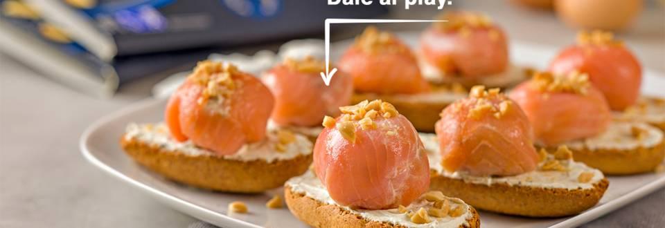 Cómo hacer bombones de salmón