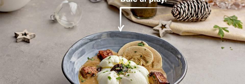 Cómo hacer huevo en flor con foie y trufa