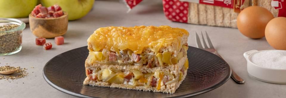 Pastel de pan de molde salado