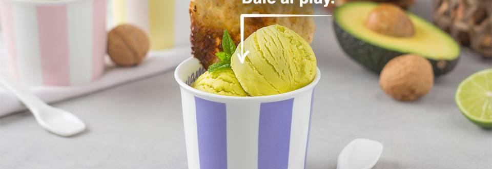 Cómo hacer helado de aguacate y nueces