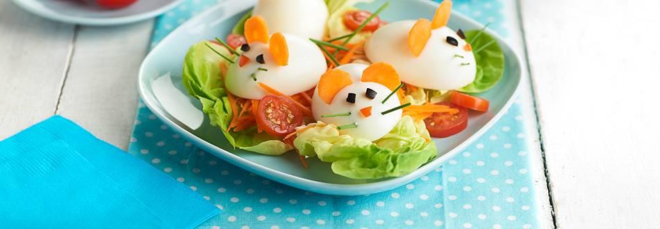 Receta de ensalada de huevo para niños
